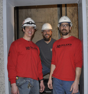 Josh, Ben, and Dan Garret, owners of Inland Elevator