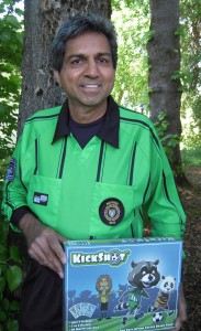 Aziz Makhani, soccer referee and creator of KickShot