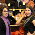Kerri Hartman & Numahka Swan, owners of Bazaar Girls Yarn & Fibre