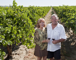 Bill and Lauren Bullock, owners Eye of the Needle Winery