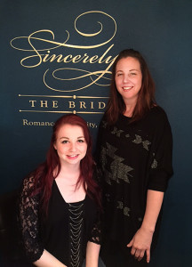 Sarah Turner, left, and her mother Lisa Bagley, owners of Sincerely-The Bride