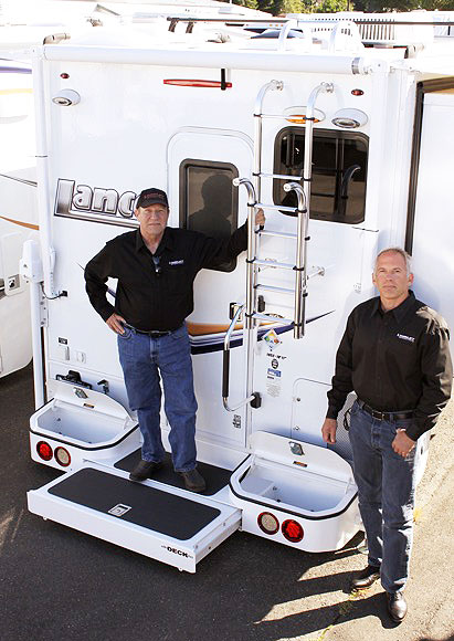 Torklift general manager Jay Taylor, left, and president Jack Kay.